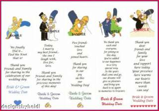 The Simpsons Wedding Favors Bookmarks Supplies Bridal