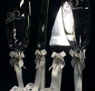 Country Western Wedding Cake topper LOT Glasses knife server Garter