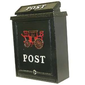 Cast Aluminium Black Mail Box [Kitchen & Home]