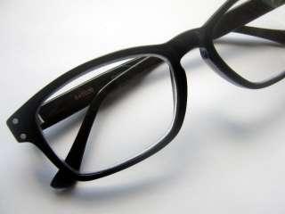 Hornrim Reading Glasses 1.00 Black Mad Men Nerd Retro Eyeglass Frames
