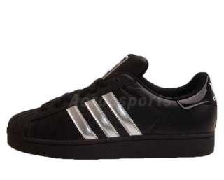 Adidas Originals Superstar II Black Silver 2012 Classic Mens Casual