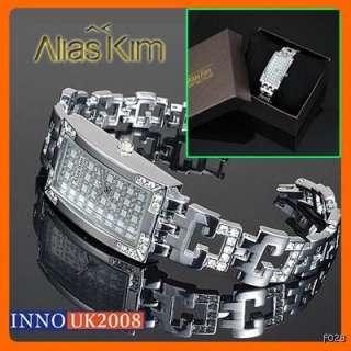 Rhinestone Series Alias Kim Ladies Bracelet Watch + Gift Box