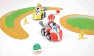 Tomy Takara Q STEER Mario Wario Kart Wii car racing set