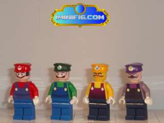 LEGO Custom Super Mario Luigi Waluigi and Wario #038B