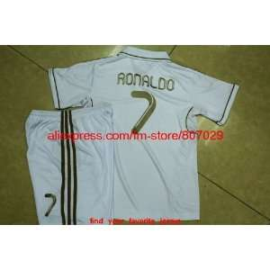 whole soccer jersey 11/12 real madrid kids home soccer jersey football