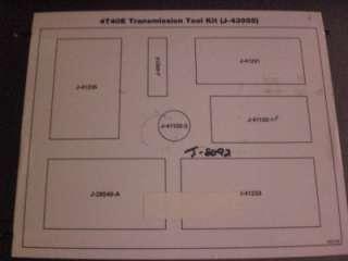 Kent Moore J 43955 4T40E Transmission Tool Kit Package