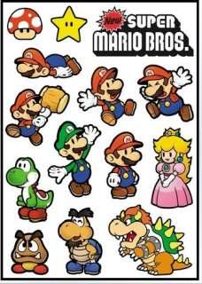 14 OF Super Mario bros VINYL STICKER DECAL