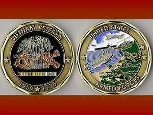 Vietnam Veteran Military Challenge Coin E_St