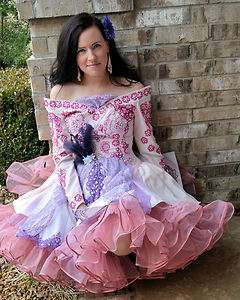 Vintage Candy hearts altered re purposed party wedding pettiskirt gown
