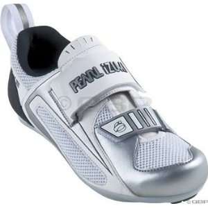 Pearl Izumi Tri Fly III Triathlon Shoe Womens 36 White Silver