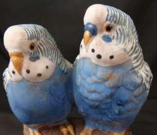 Royal Copenhagen Faience Alumina Budgie Blue Bird Double Artist Signed