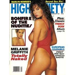Society Magazine February 1991 Melanie Griffith: High Society: Books