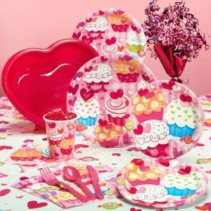 Valentines Day Cupcake Hearts Party Pack for 8 Toys & Games