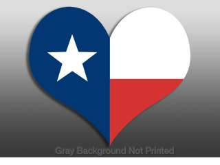 Heart Shaped Texas Flag Sticker  decal stickers lone tx
