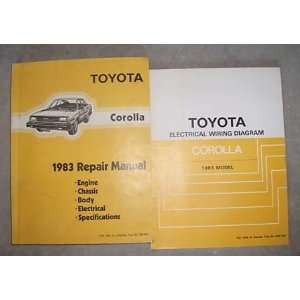1983 Toyota Corolla Service Repair Shop Manual Set Oem