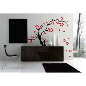 Decal Wall Sticker Art Sakura Flowers Asian Tattoo Graphic Home Decor