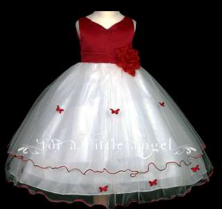 Apple red Baby Flower Girl Wedding Dress 600 size XS