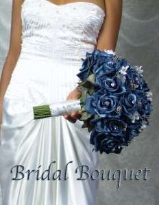 GORGEOUS ANGELINA NAVY Wedding Bouquet Bouquets Bridal Bridesmaid