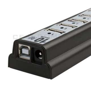 New 10 PORTS USB HUB 2.0 High Speed /Power AC Adapter 7