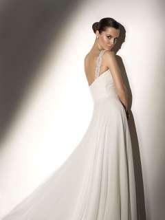 Gorgeous Chiffon White/Ivory Beach Wedding Dress 2012 Bridal Gown