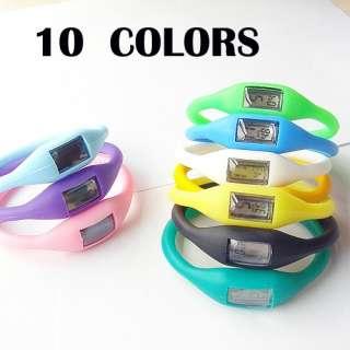colors Bracelet Silicone Health Anion Wrist Watch Quartz Women/Men FOB