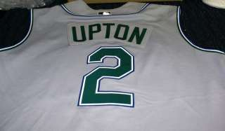 b4ff62be BJ Upton GAME USED Tampa Bay Devil Rays 2nd year JERSEY on PopScreen