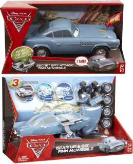 Disney Pixar Cars 2 Finn McMissile Vehicle Set Of 2 New