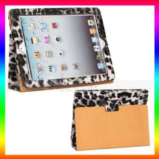 Black Tiger Pattern PU Leather Case For Apple iPad 2 US
