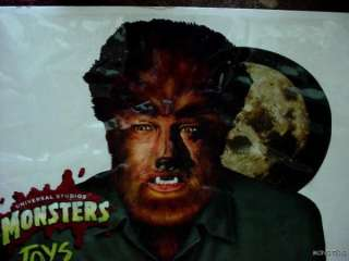 BURGER KING WOLFMAN UNIVERSAL MONSTERS TOYS WINDOW STORE DISPLAY