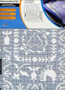 Fiskars ShapeBoss Stencil Set 2pc Top+Bot French Country Design