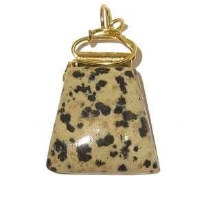 Jasper Pendant 19 Dalmatian Slab Spotted Stone Crystal Healing Gold