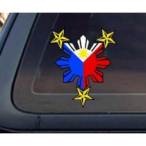 Philippine Flag Sun with Nautical Star Car Decal / Stickers