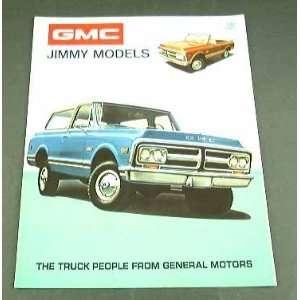 1972 72 GMC JIMMY Truck SUV BROCHURE Super Custom 4wd