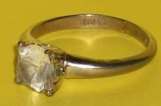 OLD PATENT ESTATE JEWELRY 14K GOLD GF SOLITAIRE EARRING + COURTLY 12K