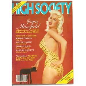 High Society August 1980 Jayne Mansfield Collectors
