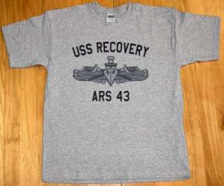 USN US Navy USS Recovery ARS 43 T Shirt Salvage Ship