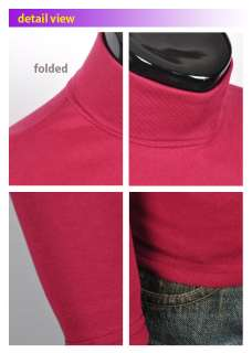 mens thermal turtle polo neck turtleneck sweatshirt sweater stretch