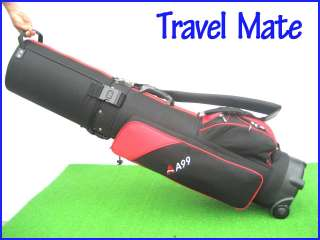 Grey/Black A99 Travel mate 2 Hybrid Golf Bag hard case wheels