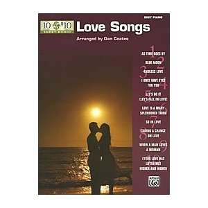 10 for 10 Sheet Music: Love Songs   Piano Solos: Arr. Dan