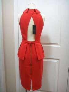 2012 NEW BCBG MAX AZRIA TULA PEPLUM DRESS