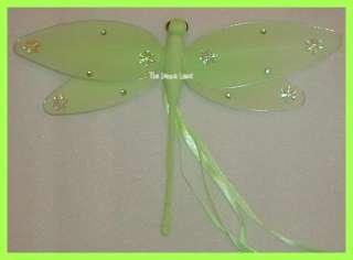11 Green Ribbon Nylon DRAGONFLY Nursery Hanging Decoration For Baby