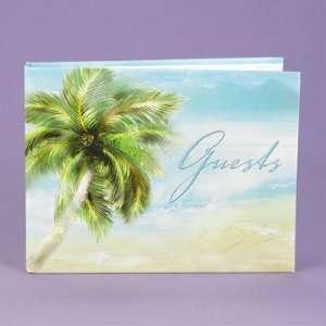 Beach Theme Guest Book Wedding Reception Summer Palm Tree Tropical