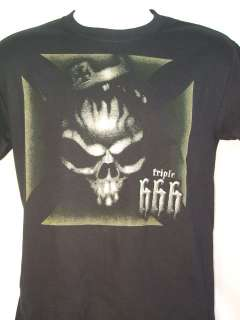 Triple H King of Kings Skull T shirt WWE New