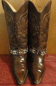 Cowboy Boots*Ladies*Fancy*Attractive & Nice*Buckles & Stones*Brown