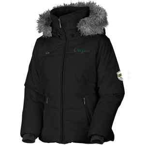 Columbia Oregon Ducks Ladies Black Trinity Bomber Full Zip Hoodie