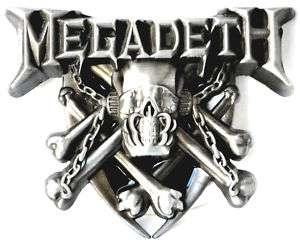 MEGADETH THRASH METAL MUSIC BAND BELT BUCKLE