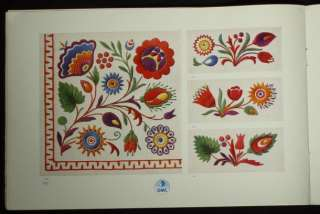 BOOK Czech/Slovak Folk Embroidery Patterns ethnic peasant charted