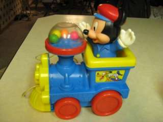 Disney Mickey Mouse Pull Toy Train Popping Beads   Child