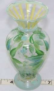 Tracy Porter Hand Painted 6 3/8 Glass Vase