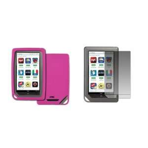 EMPIRE Barnes and Noble Nook Color Hot Pink Silicone Skin Case Cover